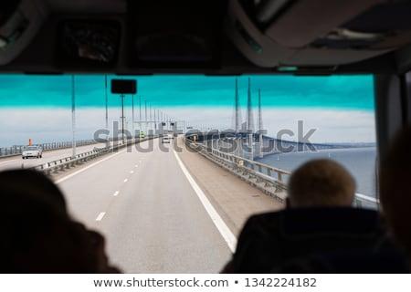 ponte · acqua · nubi · strada · costruzione · tramonto - foto d'archivio © slunicko