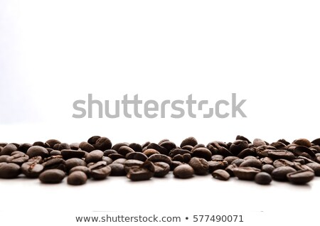 Szív kávé bab asztal kávé fából készült Stock fotó © jarin13