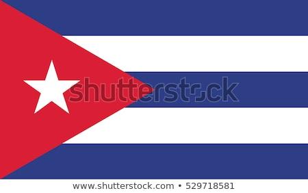 bandeira · Cuba · feito · à · mão · praça · forma · mundo - foto stock © k49red