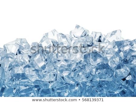 Jégkocka köteg kék absztrakt művészet ital Stock fotó © zybr78