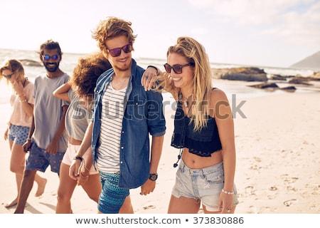zee · schuim · golven · naakt · voeten · zand - stockfoto © nito