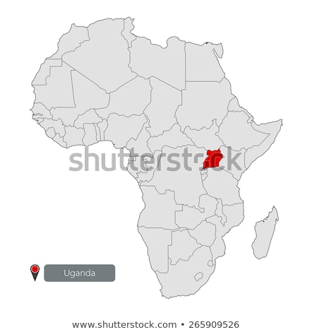 Uganda · térkép · zászló · utazás · Afrika · fekete - stock fotó © tkacchuk