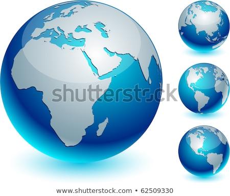 conjunto · quatro · globo · projeto · vetor · teia - foto stock © Pinnacleanimates