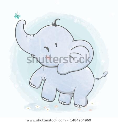 Bebé elefante jugando feliz arena naturaleza Foto stock © michaklootwijk