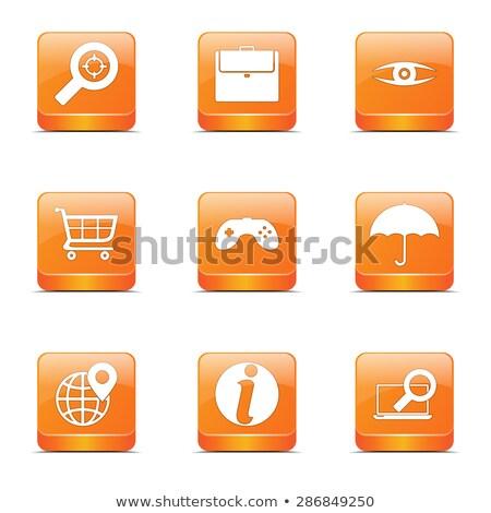 SEO Internet Sign Square Vector Orange Icon Design Set 10 Stock photo © rizwanali3d