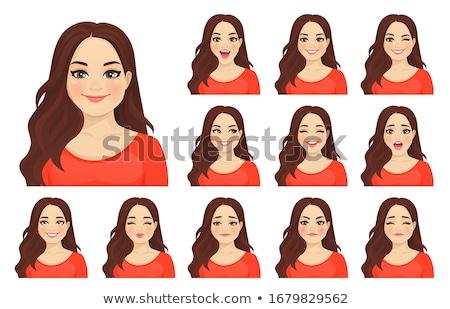 Gyönyörű fiatal nő arckifejezés meglepetés nő lány Stock fotó © deandrobot
