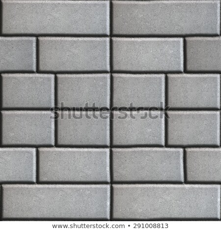 Gray Paving Slabs in the Form Rectangles of Different Value. Stock photo © tashatuvango