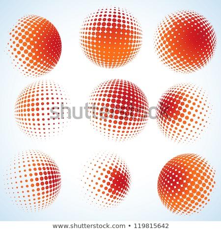 3D · yarım · ton · daire · eps · vektör · dosya - stok fotoğraf © beholdereye