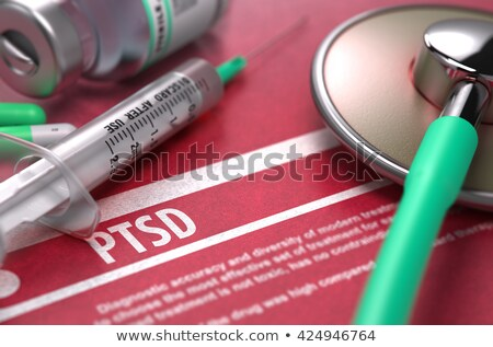 Diagnosis - PTSD. Medical Concept with Blurred Background. Stock photo © tashatuvango