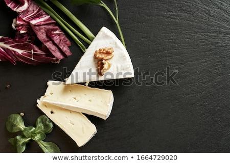 新鮮な · ブリーチーズ · プレート · ブドウ · ダイエット - ストックフォト © saharosa
