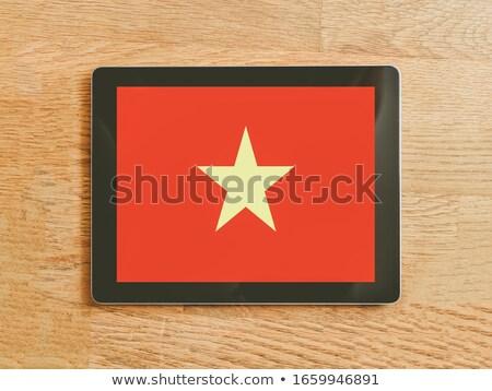 Tablet Vietnam bayrak görüntü render Stok fotoğraf © tang90246