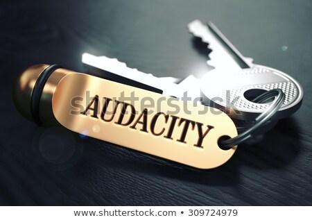 Klucze słowo złoty etykiety czarny Zdjęcia stock © tashatuvango