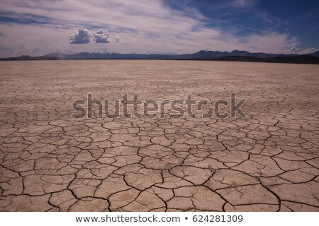 Foto stock: Secar · lago · cama · rachado · lama · seca