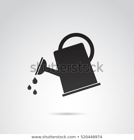 Watering can icon drawn in chalk. Stock photo © RAStudio