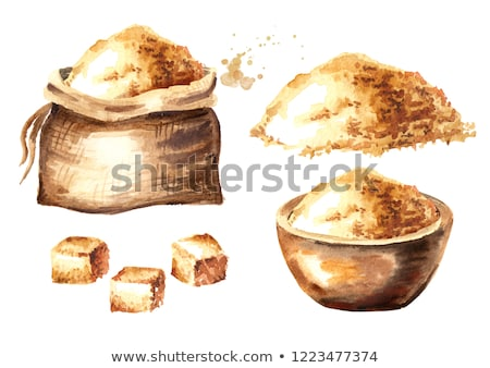Piece of sugarcane with brown sugar Stock photo © bdspn