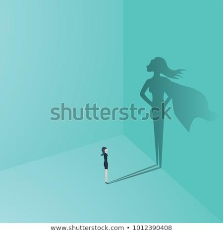 Invincible businesswoman Stock photo © alphaspirit