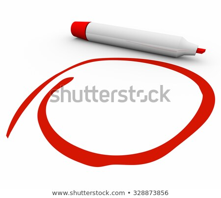 Red Marker Pen Circled Blank Copy Space Your Message Stock photo © iqoncept