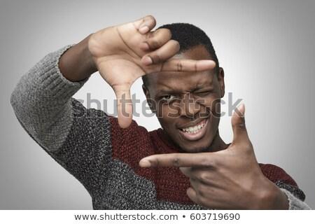 férfias · ujjak · fehér · háttér · üzletember · öltöny - stock fotó © deandrobot