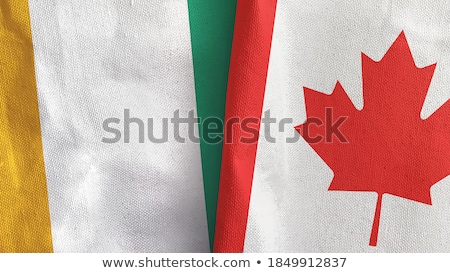 Canada and Cote Divoire Flags Stock photo © Istanbul2009