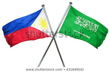 Szaúd-Arábia Fülöp-szigetek zászlók puzzle izolált fehér Stock fotó © Istanbul2009