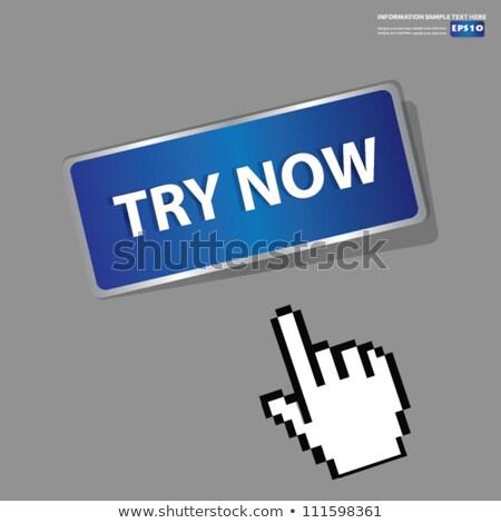 Stockfoto: Nu · Blauw · vector · icon · knop · internet