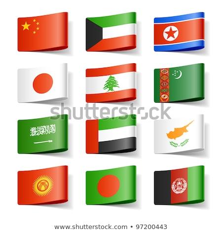 Szaúd-Arábia Türkmenisztán zászlók puzzle izolált fehér Stock fotó © Istanbul2009