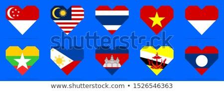 Duitsland Myanmar vlaggen puzzel geïsoleerd witte Stockfoto © Istanbul2009