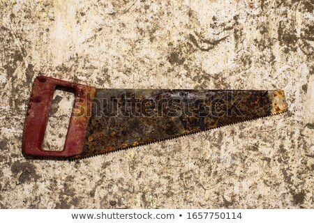 old rusty saw stock photo © avlntn