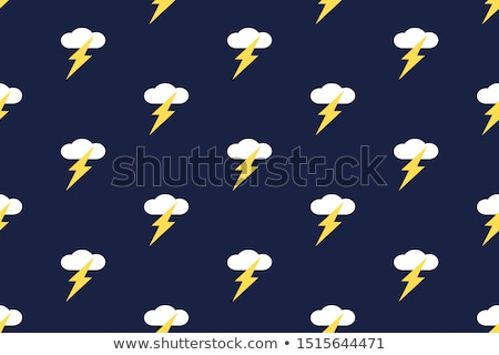 Flash nuvem azul vetor ícone projeto Foto stock © rizwanali3d