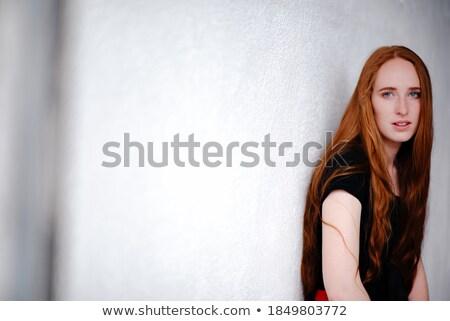 молодые девушки черный долго платье Сток-фото © Elnur