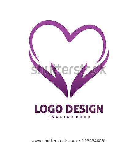 heart logo template Stock photo © netkov1