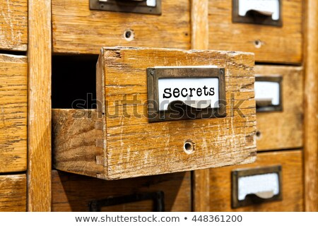 Open box in the archive library Stock photo © Valeriy