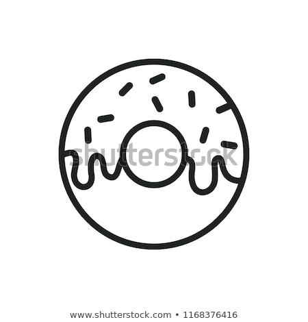 donut icon stock photo © kiddaikiddee