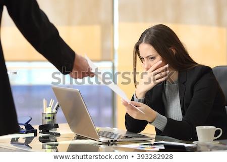 Boss receiving file from employee. Stock photo © RAStudio