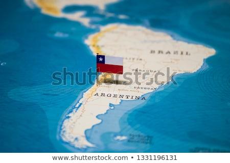 Chile vidék térkép földgömb terv pénzügy Stock fotó © alex_grichenko