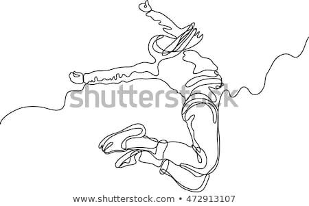 рисованной моде иллюстрация танцы ног акварель Сток-фото © gigi_linquiet