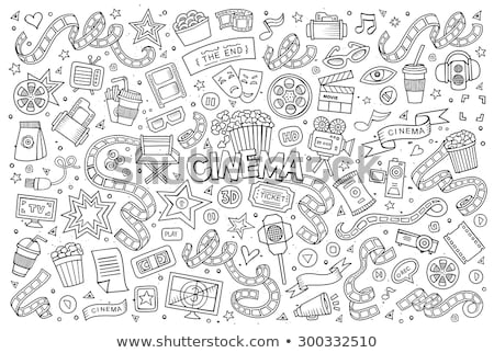doodle vector cinema stock photo © netkov1