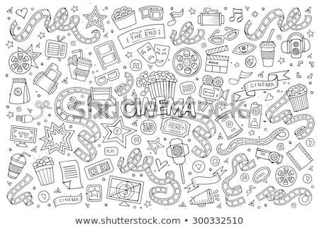 商业照片: 涂鸦 · 向量 · 电影院 · 手工绘制 ·集· 对象