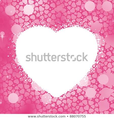 Pasztell szív bokeh keret copy space eps Stock fotó © beholdereye