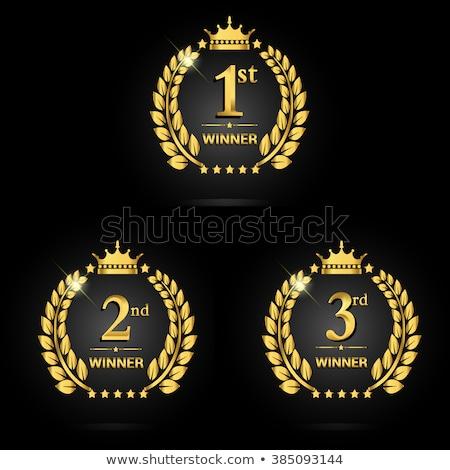 Dourado copo primeiro lugar prêmio esportes Foto stock © Winner