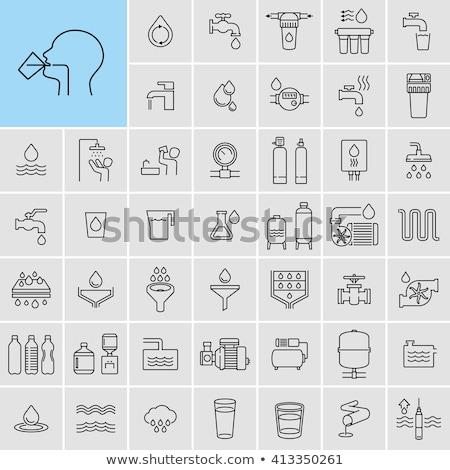 Wody filtrować zbiornik odizolowany biały niebieski Zdjęcia stock © FOKA