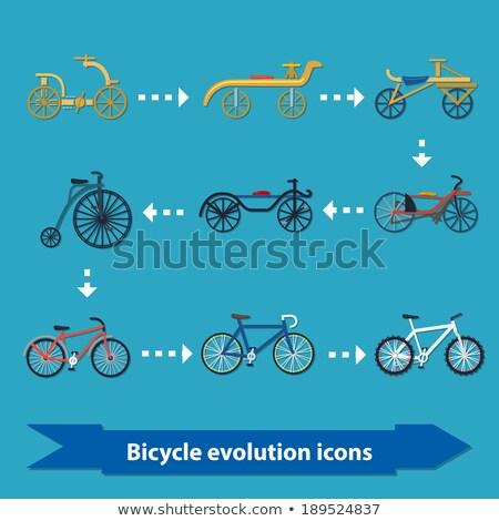 Vélo évolution icônes illustration modernes fond Photo stock © Yuriy
