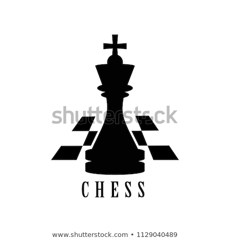 Rey del ajedrez blanco bordo deporte arte piedra Foto stock © cosma