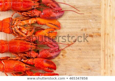 geheel · Rood · kreeft · hout · zee · diner - stockfoto © ozgur