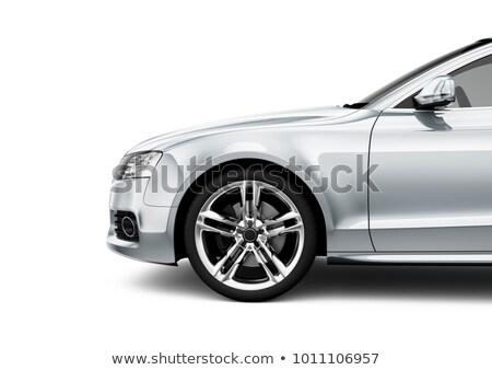 крыло белый новых крыло автомобилей изолированный Сток-фото © Phantom1311