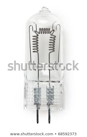 Kicsi átlátszó halogén lámpa izolált fehér Stock fotó © ozaiachin