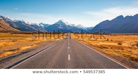asfalt · yol · alan · fırtınalı · gökyüzü · karanlık - stok fotoğraf © stockfrank