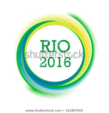 Рио Бразилия красочный текста дизайна спорт Сток-фото © cienpies