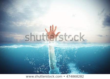Businessman drowns and asks for help Stock photo © alphaspirit
