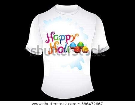 abstrato · feliz · flor · primavera · mão · pintar - foto stock © pathakdesigner